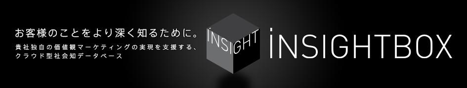 お客様のことをより深く知るために。貴社独自の価値観マーケティングの実現を支援する、クラウド型社会知データベース「iNSIGHTBOX」