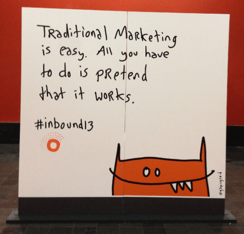 Traditional Marketing is easy. All you have to do is PRetend that it works.