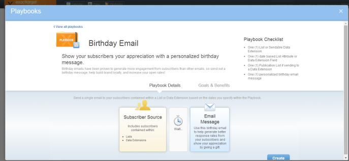 Birthday Emailの例。Welcome Seriesと同じフローで設定。