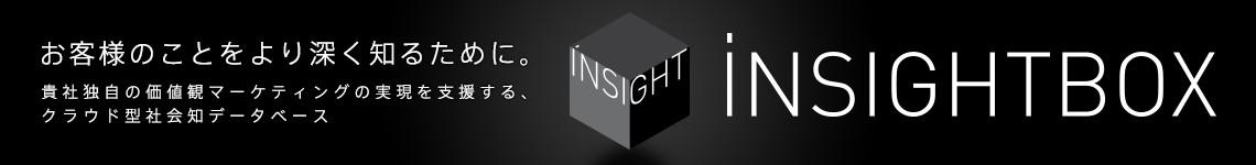 お客様のことをより深く知るために。貴社独自の価値観マーケティングの実現を支援する、クラウド型社会知データベース「iNSIGHTBOX(インサイトボックス)。詳しくはこちら